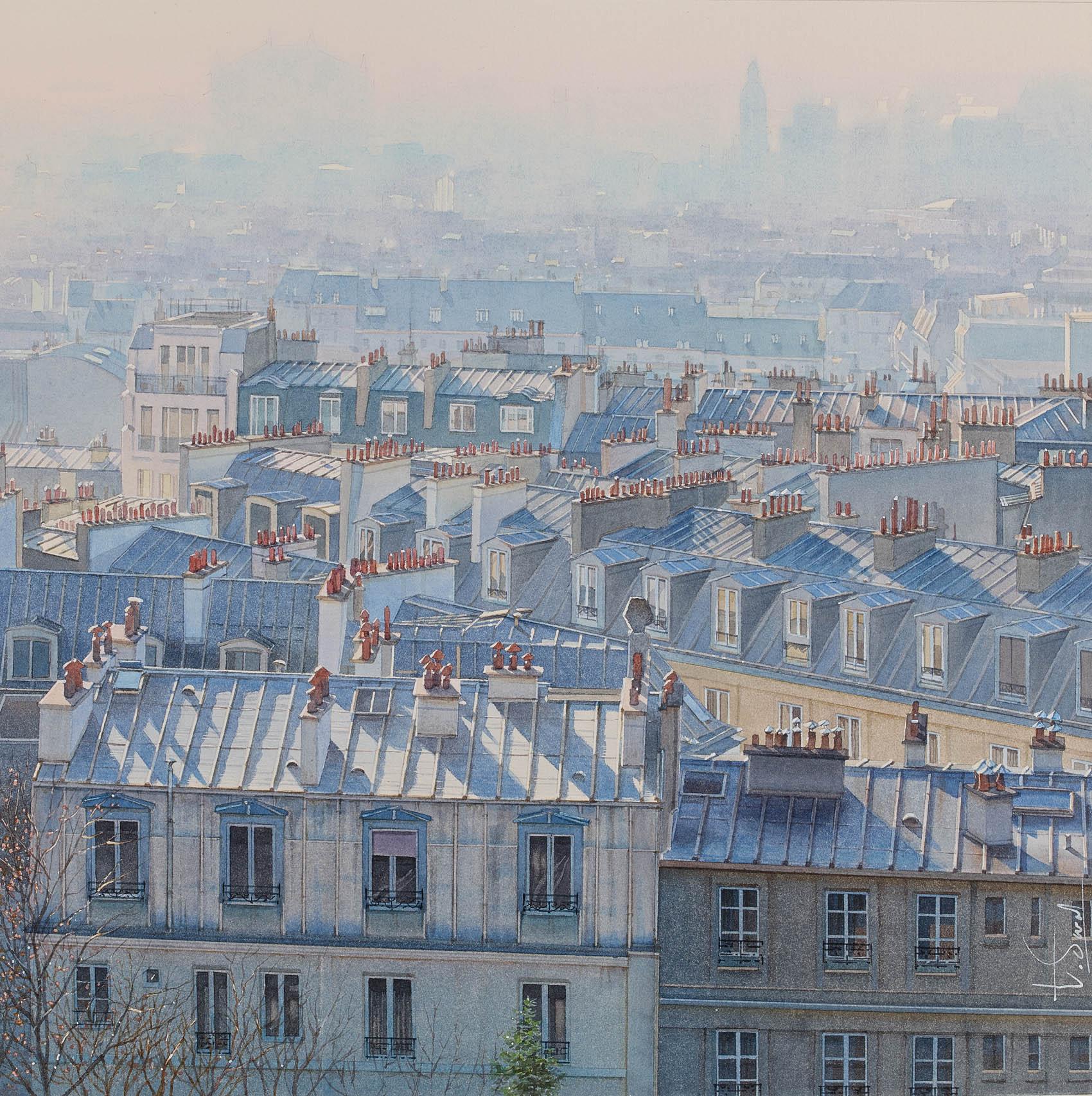 """Perspective atmosphérique sur les toits de Paris"""""""
